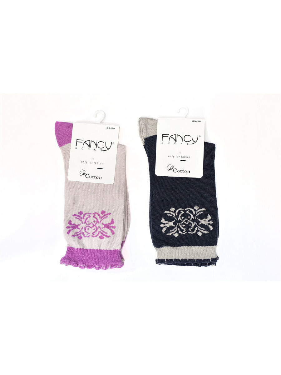 Носки Fancy socks by Oztas 2.5.228к2/черн/св-роз