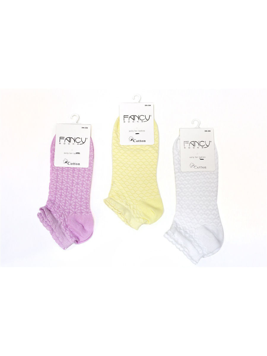 Носки Fancy socks by Oztas 2.5.240к3/бел/роз/желт