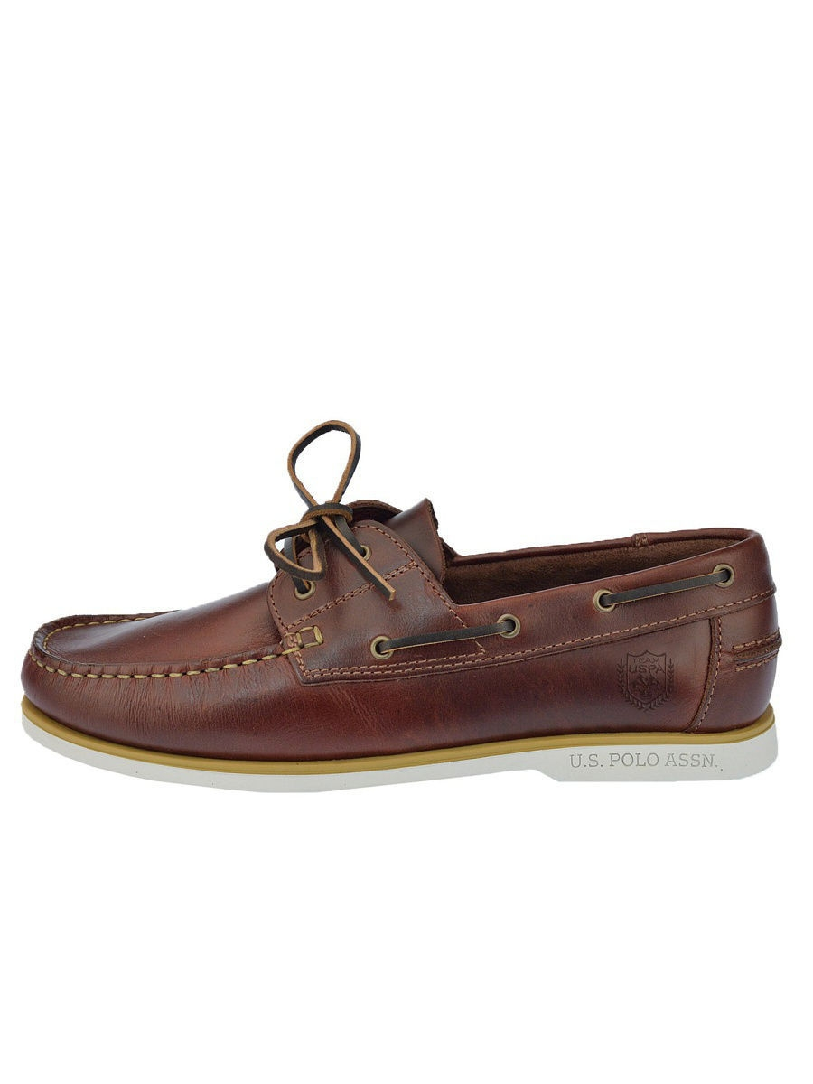 Мужские мокасины U.S. Polo Assn. S081SZ033ITLYRUDOLF-LEATHER/BRW