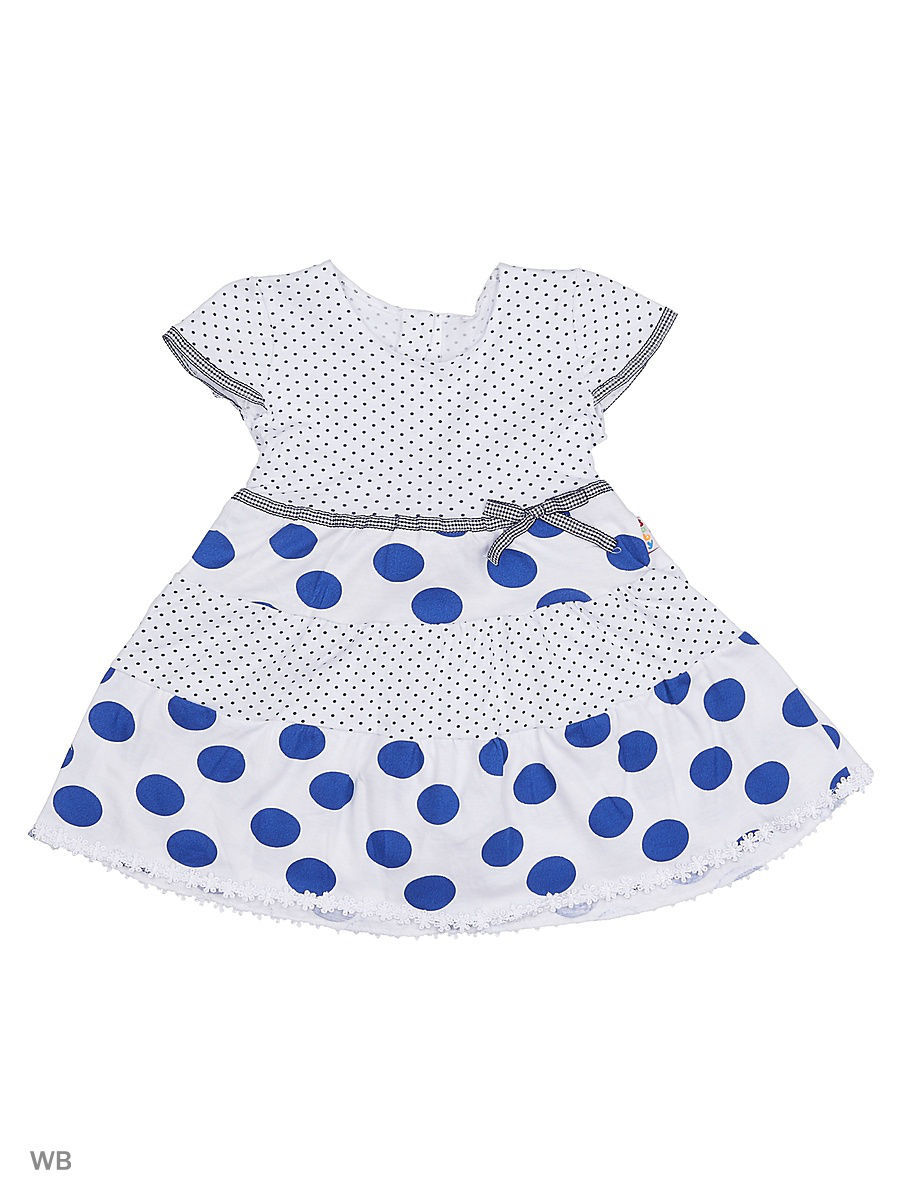 Платье Babycollection 16Baby-497/d/белый,синий