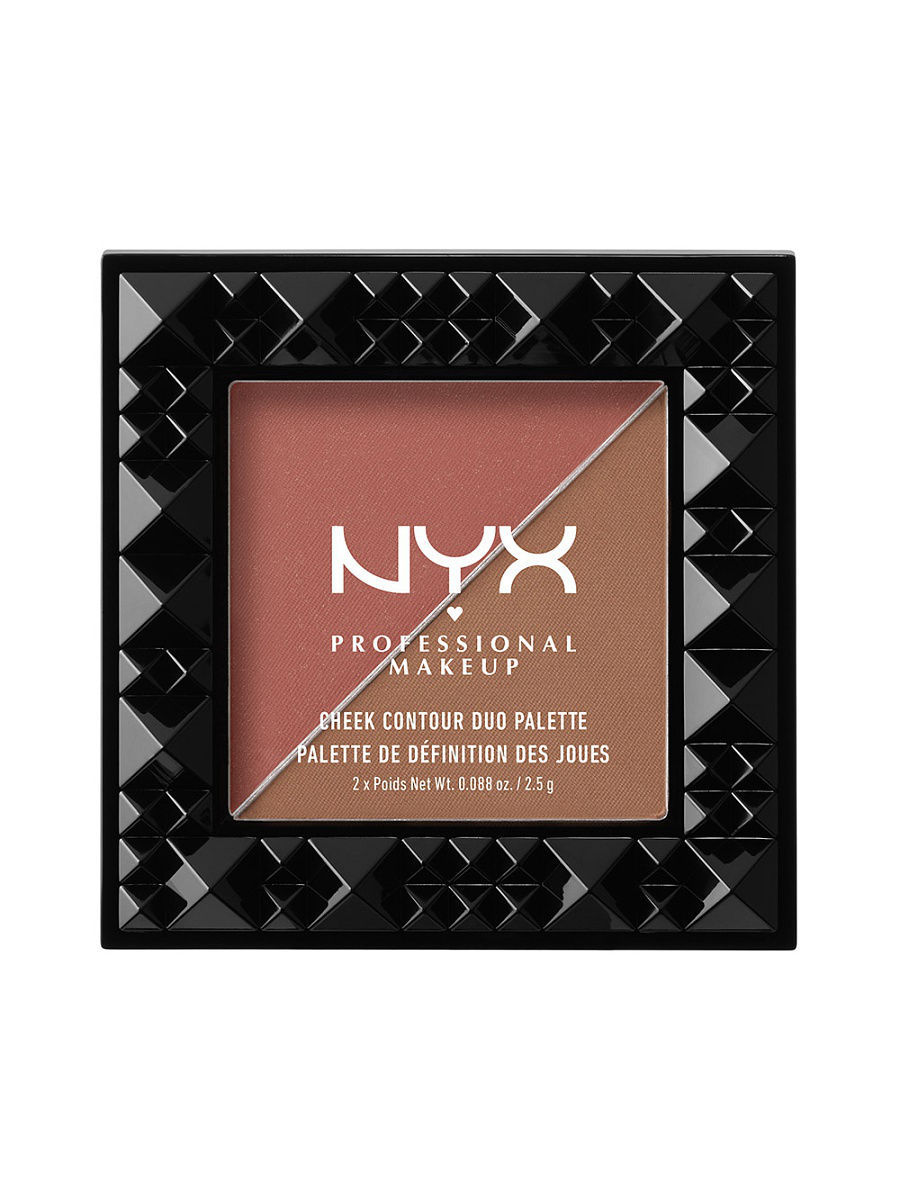 Корректоры NYX PROFESSIONAL MAKEUP Дуо палетка для контуринга. CHEEK CONTOUR DUO PALETTE -  WINE & DINE 04 terra ha131