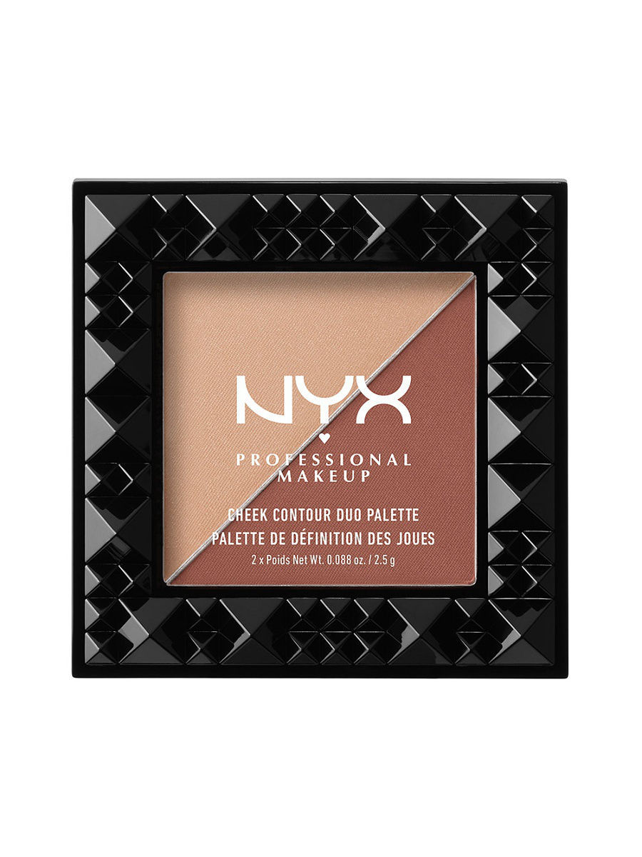 Корректоры NYX PROFESSIONAL MAKEUP Дуо палетка для контуринга. CHEEK CONTOUR DUO PALETTE  -  GINGER & PEPPER 06 крем эфаклар дуо цена