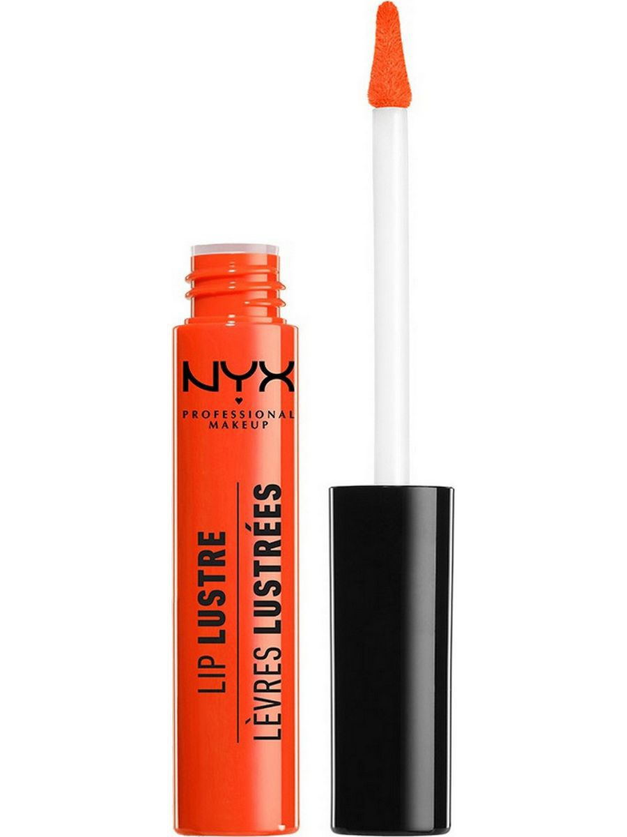 Блески NYX PROFESSIONAL MAKEUP Лаковый блеск LIP LUSTRE GLOSSY TINT - JUICY PEACH 08 savannah bee company natural and organic peach blossom shimmer lip tint 0 09 ounce