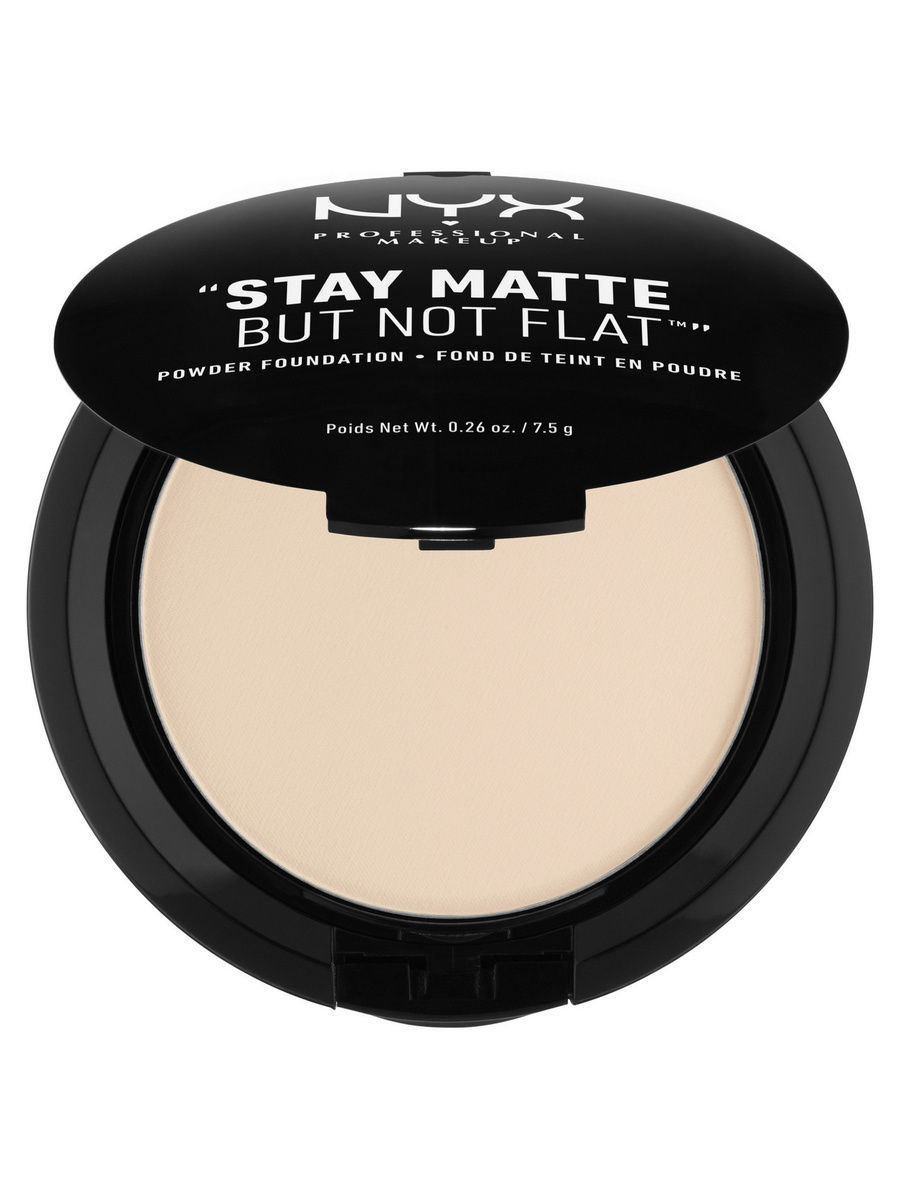 Пудры NYX PROFESSIONAL MAKEUP Тональная основа-пудра STAY MATTE BUT NOT FLAT POWDER FOUNDATION - ALABASTER 013 тональная основа mac cosmetics studio waterweight spf30 foundation nc25 цвет nc25 variant hex name f4c4a2
