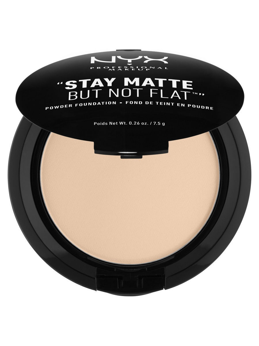 Пудры NYX PROFESSIONAL MAKEUP Тональная основа-пудра STAY MATTE BUT NOT FLAT POWDER FOUNDATION - LIGHT BEIGE 015 пудра для лица photoready powder light medium 20
