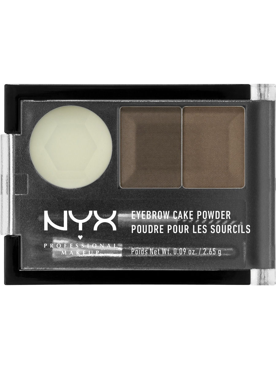Тени NYX PROFESSIONAL MAKEUP Тени для бровей EYEBROW CAKE POWDER - BRUNETTE 05 гель для бровей с микроволокнами eyebrow booster filling effect 6 8мл