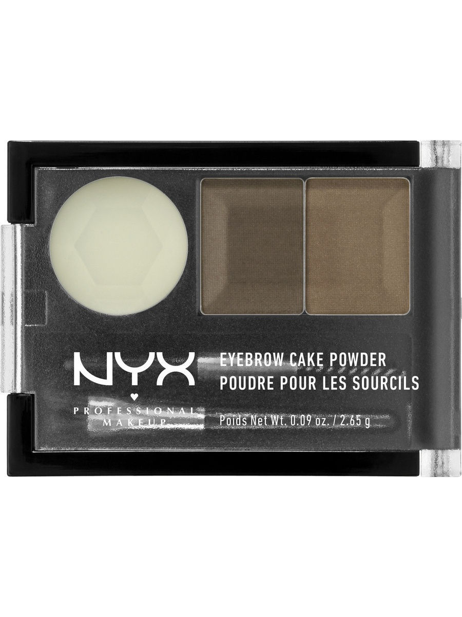 Тени NYX PROFESSIONAL MAKEUP Тени для бровей EYEBROW CAKE POWDER - BLONDE 06 гель для бровей с микроволокнами eyebrow booster filling effect 6 8мл