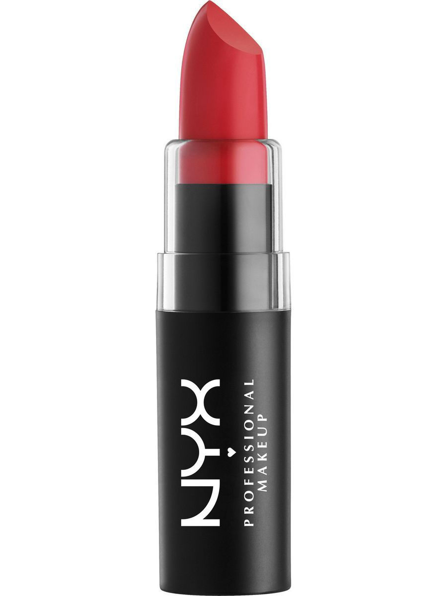 Помады NYX PROFESSIONAL MAKEUP Матовая губная помада MATTE LIPSTICK - PURE RED 08 nyx big