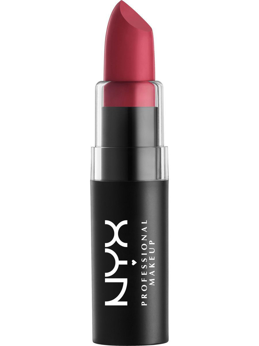 Помады NYX PROFESSIONAL MAKEUP Матовая губная помада. MATTE LIPSTICK - MERLOT 16 помады nyx professional makeup матовая губная помада matte lipstick strawberry daiquiri 22
