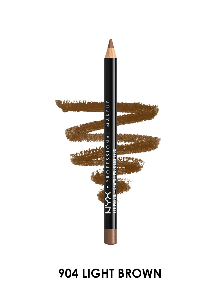 Косметические карандаши NYX PROFESSIONAL MAKEUP Карандаш для глаз SLIM EYE PENCIL - LIGHT BROWN 904 косметические карандаши nyx professional makeup карандаш для глаз jumbo eye pencil dark brown 602