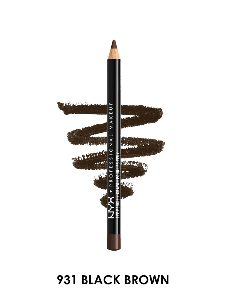 Косметические карандаши NYX PROFESSIONAL MAKEUP Карандаш для глаз Slim eye pencil - BLACK BROWN 931 косметические карандаши nyx professional makeup карандаш для глаз jumbo eye pencil dark brown 602