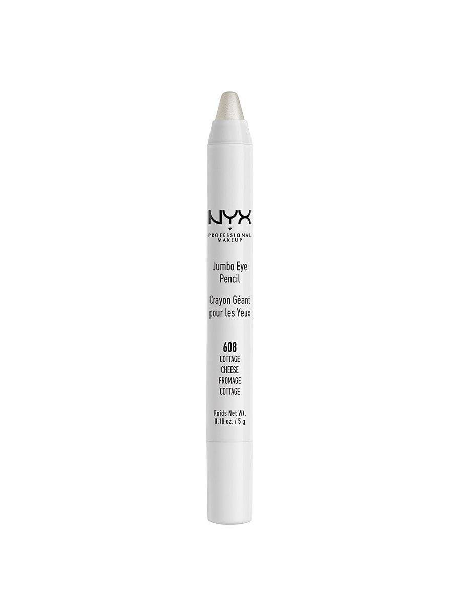Косметические карандаши NYX PROFESSIONAL MAKEUP Карандаш для глаз JUMBO EYE PENCIL - COTTAGE CHEESE 608 косметические карандаши nyx professional makeup карандаш для глаз jumbo eye pencil dark brown 602
