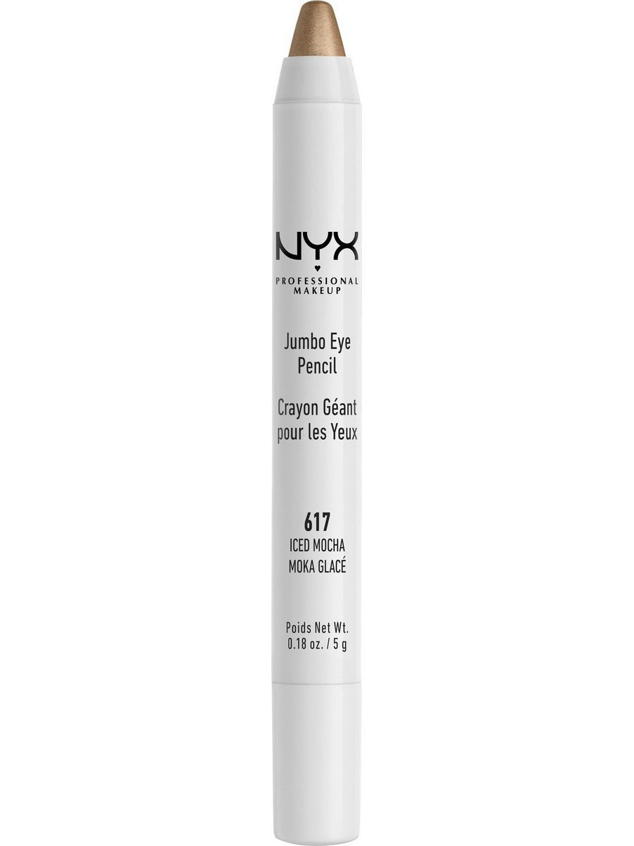 Косметические карандаши NYX PROFESSIONAL MAKEUP Карандаш для глаз JUMBO EYE PENCIL - ICED MOCHA 617 косметические карандаши nyx professional makeup карандаш для глаз jumbo eye pencil dark brown 602
