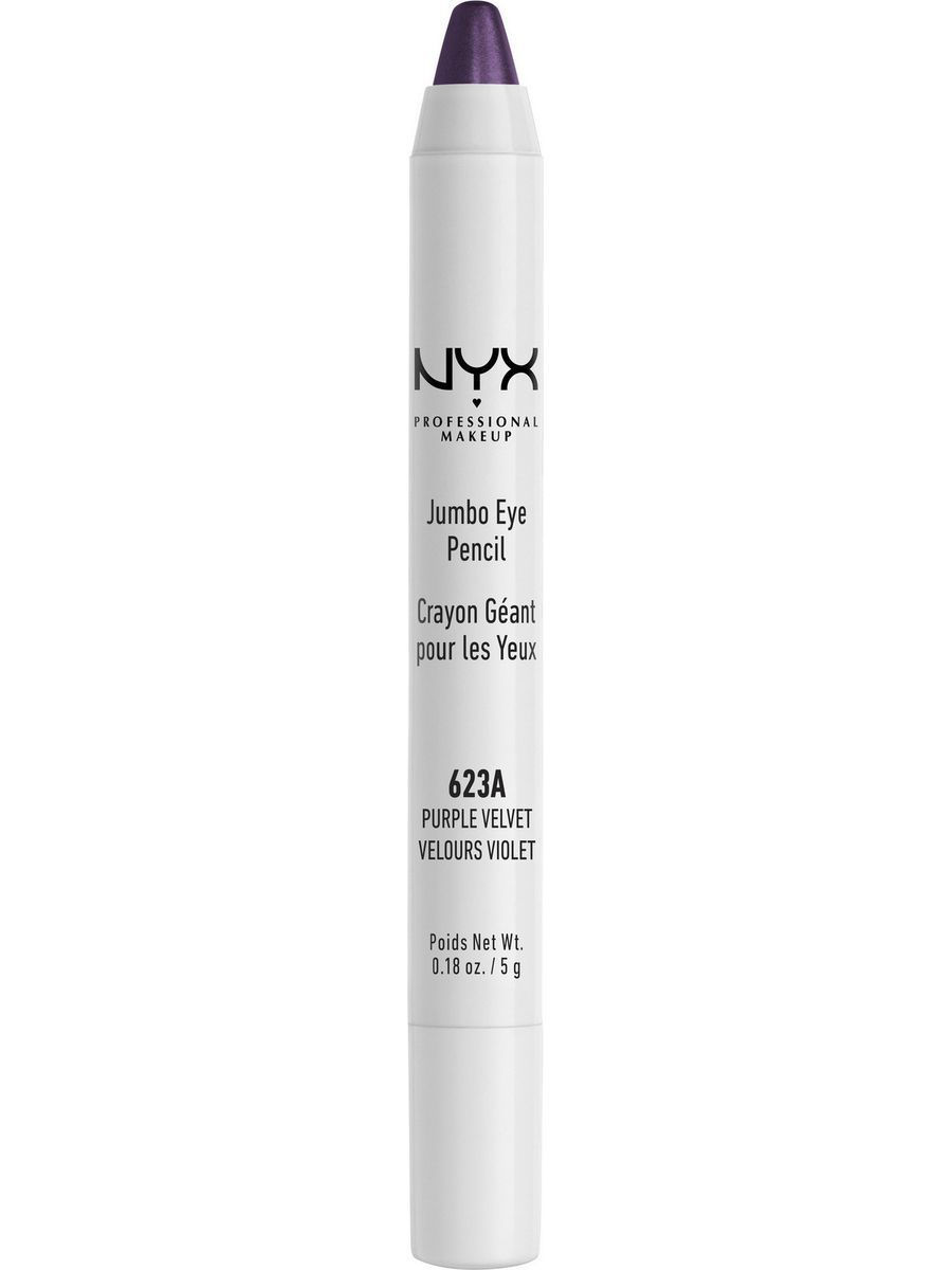 Косметические карандаши NYX PROFESSIONAL MAKEUP Карандаш для глаз JUMBO EYE PENCIL - PURPLE VELVET 623 косметические карандаши nyx professional makeup карандаш для глаз jumbo eye pencil dark brown 602