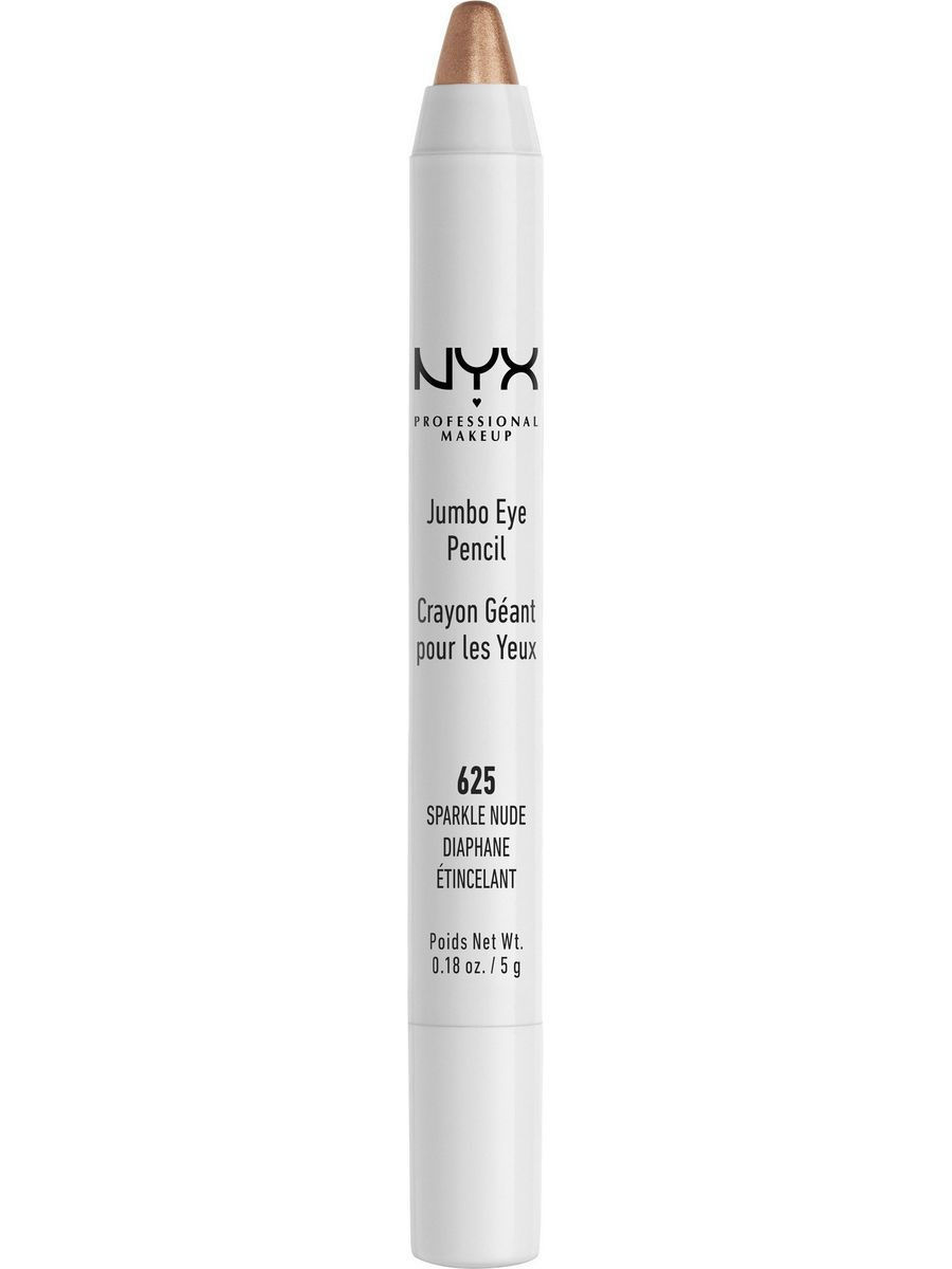 Косметические карандаши NYX PROFESSIONAL MAKEUP Карандаш для глаз JUMBO EYE PENCIL - SPARKLE NUDE 625 косметические карандаши nyx professional makeup карандаш для глаз jumbo eye pencil dark brown 602