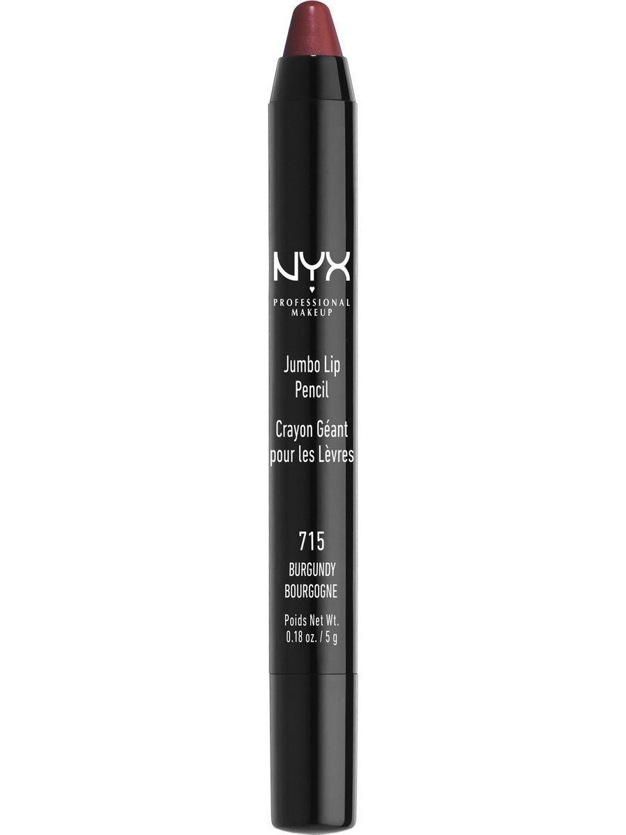 Помады NYX PROFESSIONAL MAKEUP Карандаш для губ Джамбо JUMBO LIP PENCIL - BURGUNDY 715 карандаш для губ catrice longlasting lip pencil 170 цвет 170 plumplona ole variant hex name 9c223f