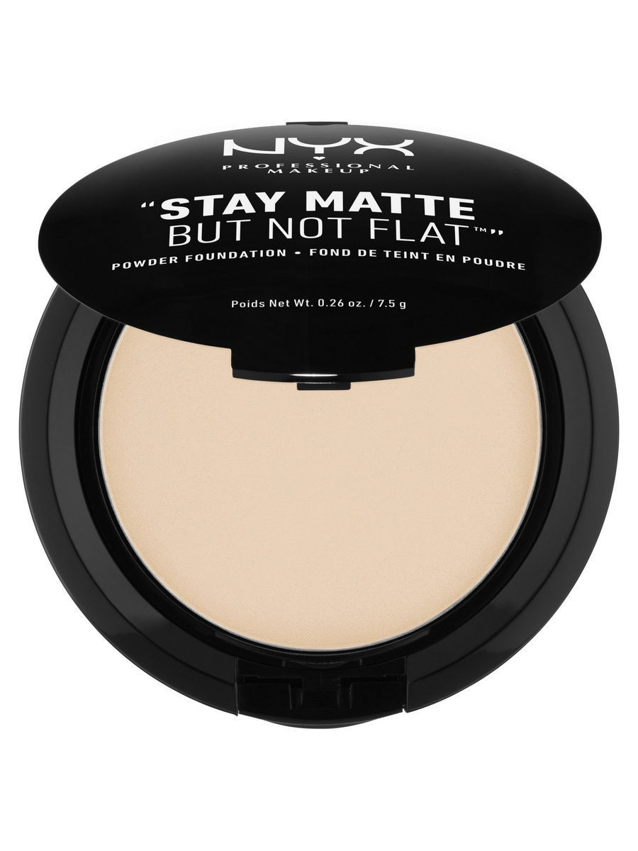 Пудры NYX PROFESSIONAL MAKEUP Тональная основа-пудра STAY MATTE BUT NOT FLAT POWDER FOUNDATION - IVORY 01 тональная основа mac cosmetics studio waterweight spf30 foundation nc25 цвет nc25 variant hex name f4c4a2