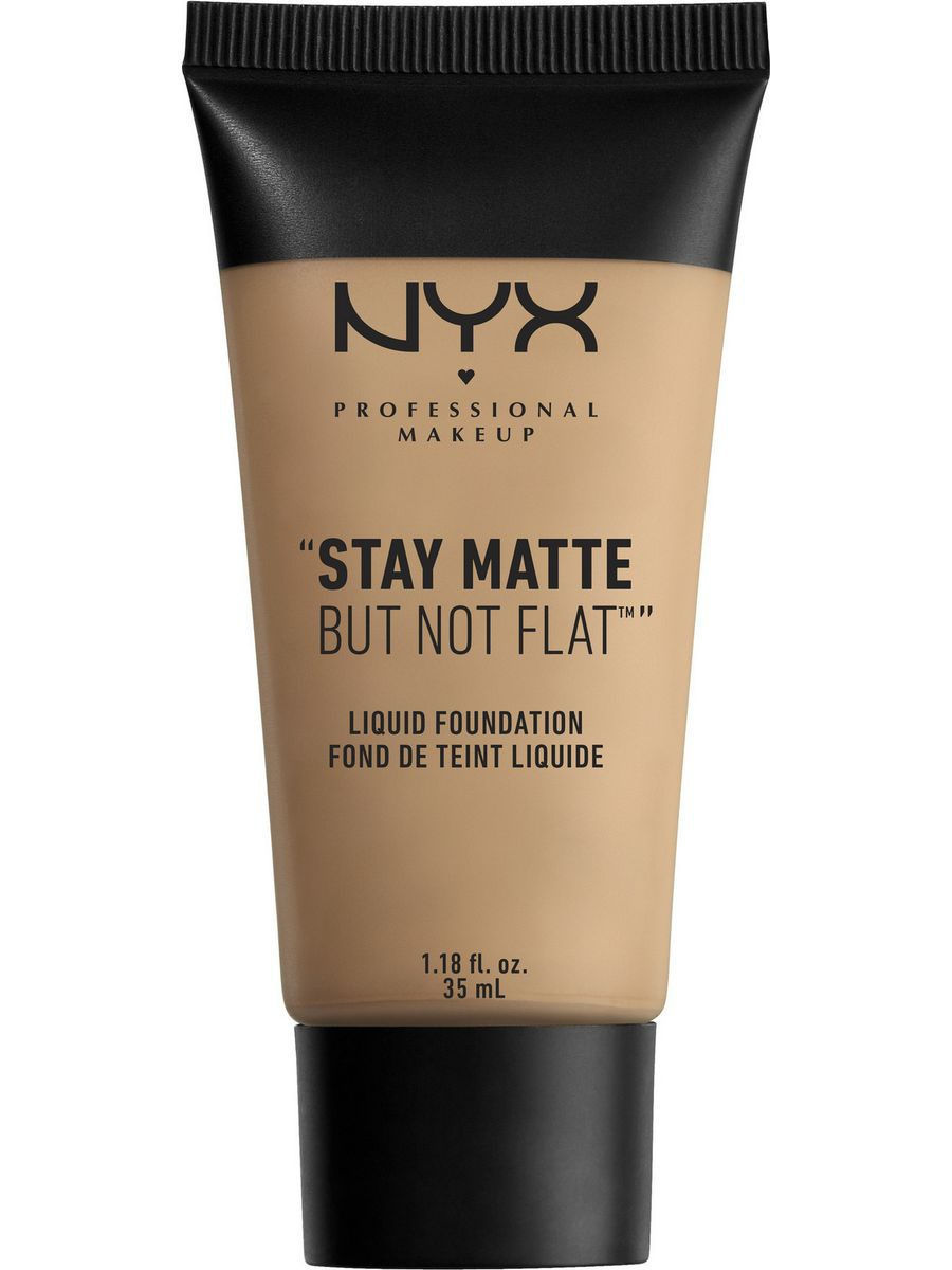 Тональные кремы NYX PROFESSIONAL MAKEUP Матирующая тональная основа. STAY MATTE BUT NOT FLAT LIQUID FOUNDATION - MEDIUM BEIGE 06 nyx professional makeup матирующая тональная основа stay matte not flat liquid foundation light beige 015
