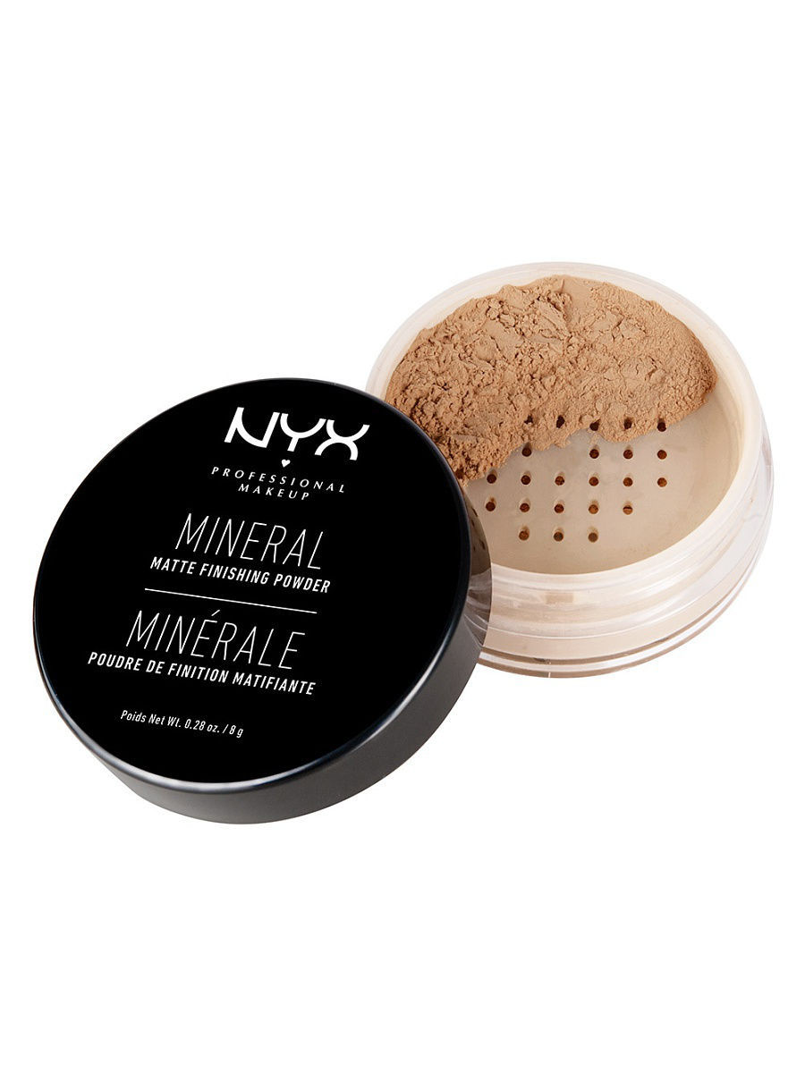 Пудры NYX PROFESSIONAL MAKEUP Фиксирующая минеральная пудра MINERAL FINISHING POWDER - MEDIUM DARK 02 пудра для лица photoready powder light medium 20