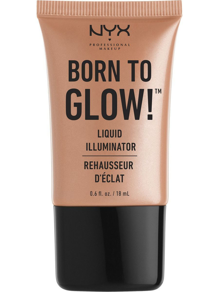 Хайлайтеры NYX PROFESSIONAL MAKEUP Хайлайтер для лица и тела BORN TO GLOW LIQUID ILLUMINATOR - GLEAM 02 глиттер для лица и тела face & body glitter gunmetal nyx professional makeup