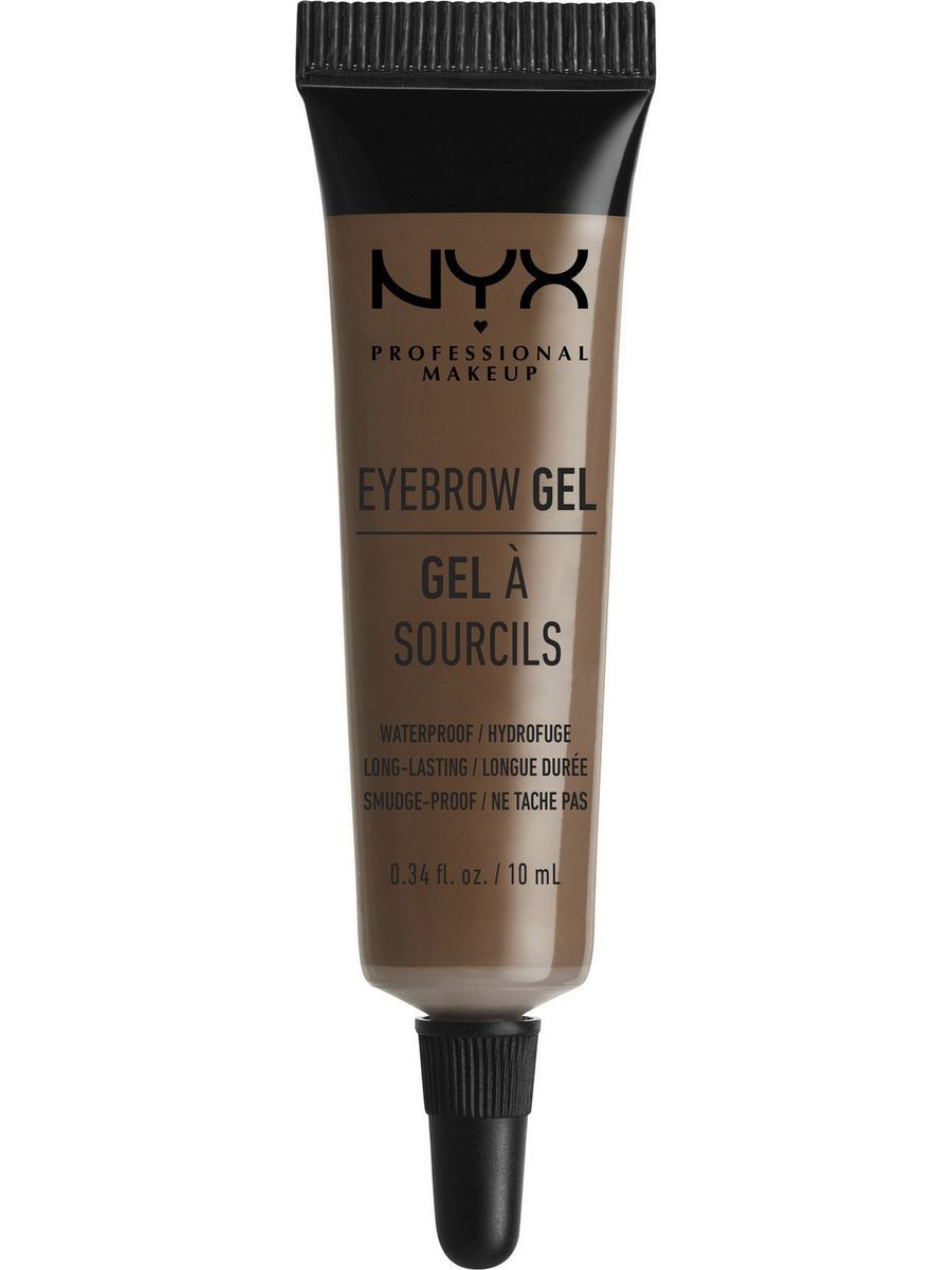 Гели для бровей NYX PROFESSIONAL MAKEUP Гель для бровей EYEBROW GEL - CHOCOLATE 02 гель для бровей с микроволокнами eyebrow booster filling effect 6 8мл
