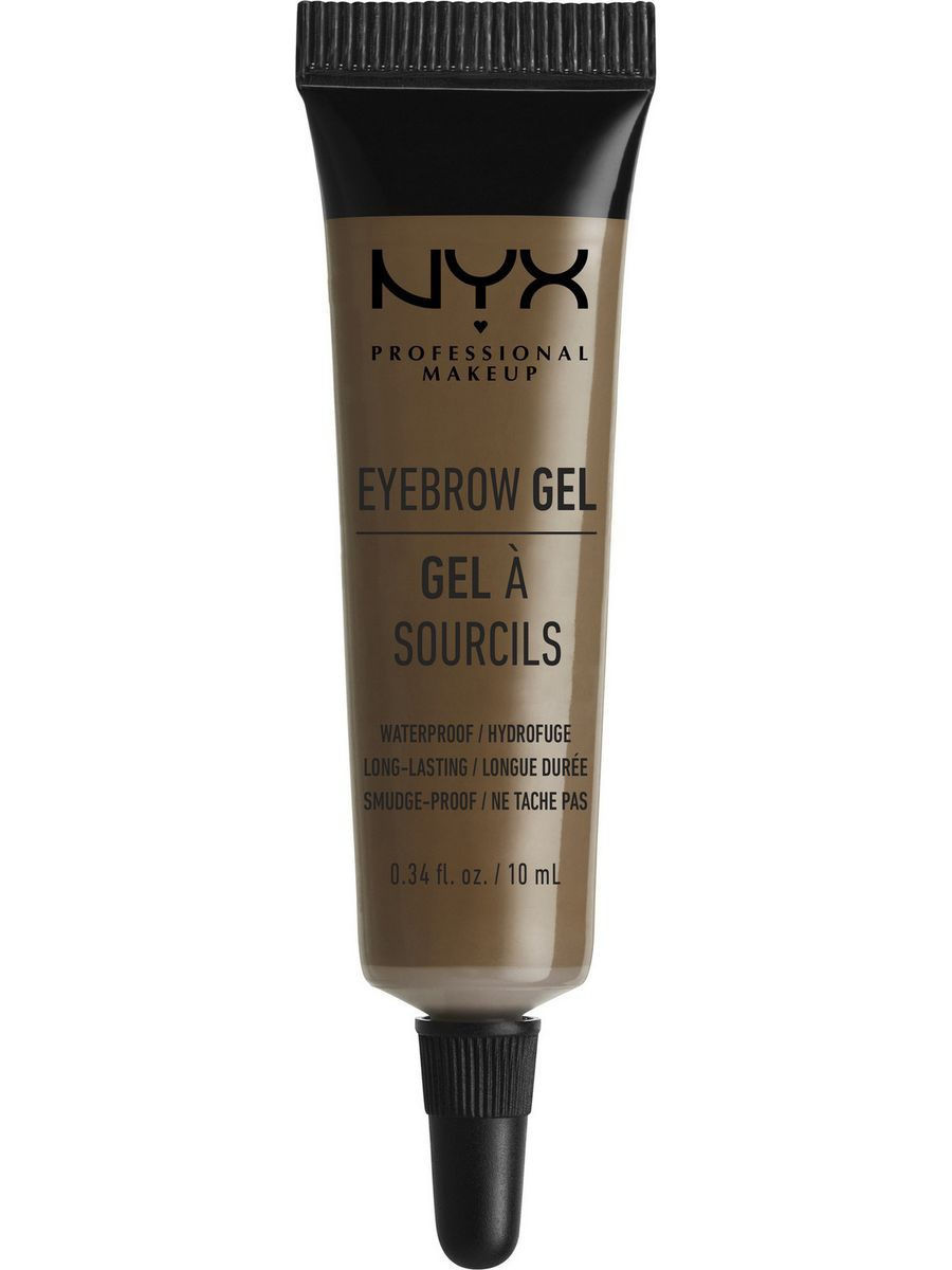 Гели NYX PROFESSIONAL MAKEUP Гель для бровей EYEBROW GEL - BRUNETTE 03 гель для бровей с микроволокнами eyebrow booster filling effect 6 8мл