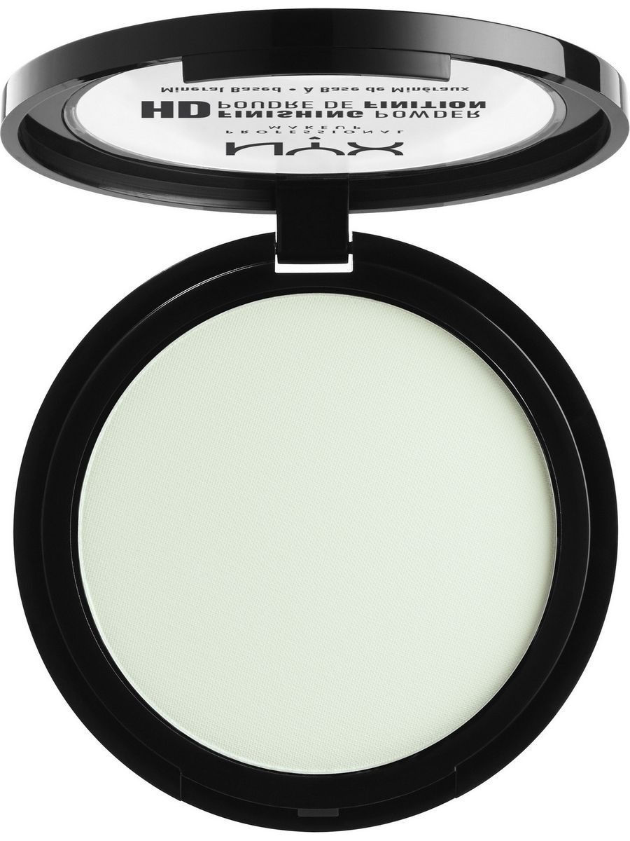 Пудры NYX PROFESSIONAL MAKEUP Пудра HD HIGH DEFINITION FINISHING POWDER - MINT GREEN 02 пудра nyx professional makeup фиксирующая пудра high definition finishing powder 01 цвет 01 translucent variant hex name eeefea