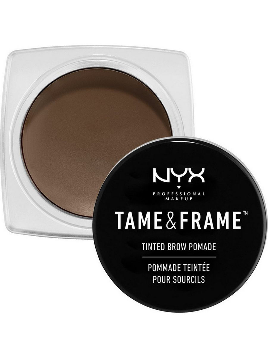 Гели для бровей NYX PROFESSIONAL MAKEUP Помада для бровей TAME & FRAME TINTED BROW POMADE - BRUNETTE 03 eylure воск для фиксации бровей tame