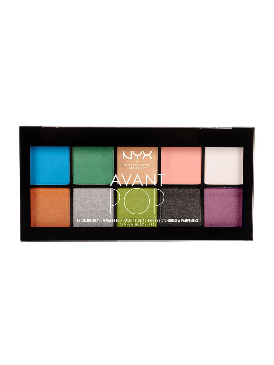 Тени NYX PROFESSIONAL MAKEUP Палетка теней AVANT POP! SHADOW PALETTE - ART THROB 01 ошейник crazy paws pop art small 33x1 5cm red dpetc007 pop rd