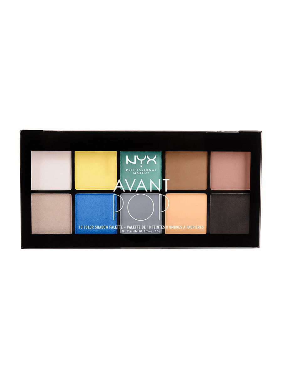 Тени NYX PROFESSIONAL MAKEUP Палетка теней AVANT POP! SHADOW PALETTE - SURREAL MY HEART 02 тени nyx professional makeup палетка теней perfect filter shadow palette olive you 03