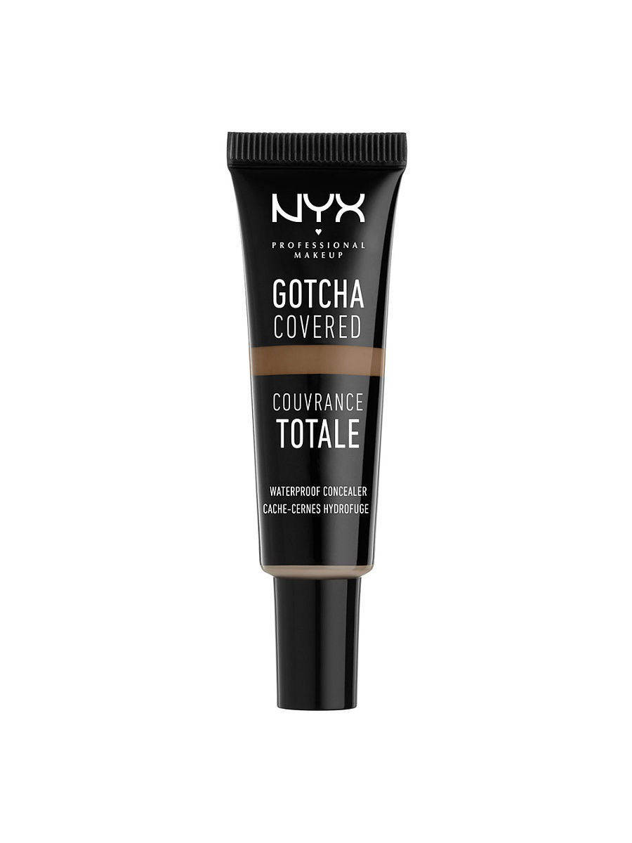 Корректоры NYX PROFESSIONAL MAKEUP Консилер GOTCHA COVERED CONCEALER - EBONY 10 корректоры physicians formula консилер двухцветный с аппл concealer twins 2 in1 correct & cover cream concealer 6 8 г