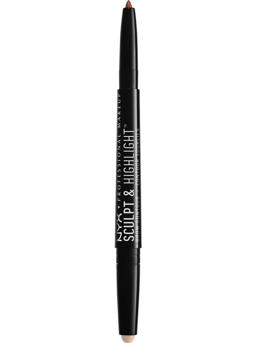 Корректоры NYX PROFESSIONAL MAKEUP Средство для контуринга бровей: хайлайтер + карандаш BROW CONTOUR - AUBURN SOFT PINK 04 средство для контуринга бровей хайлайтер карандаш soft brown rose