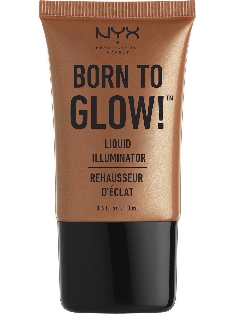 Хайлайтеры NYX PROFESSIONAL MAKEUP Хайлайтер для лица и тела BORN TO GLOW LIQUID ILLUMINATOR - SUN GODDESS 04 глиттер для лица и тела face & body glitter gunmetal nyx professional makeup