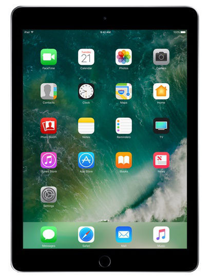 Планшеты Apple Планшет iPad Wi-Fi+Cellular 128GB Space Grey 2017 планшет apple ipad wi fi 32gb gold золотой 9 7 retina display air 2 apple