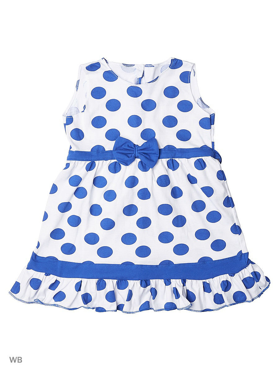 Платье Babycollection 18Baby-624/d/белый,синий