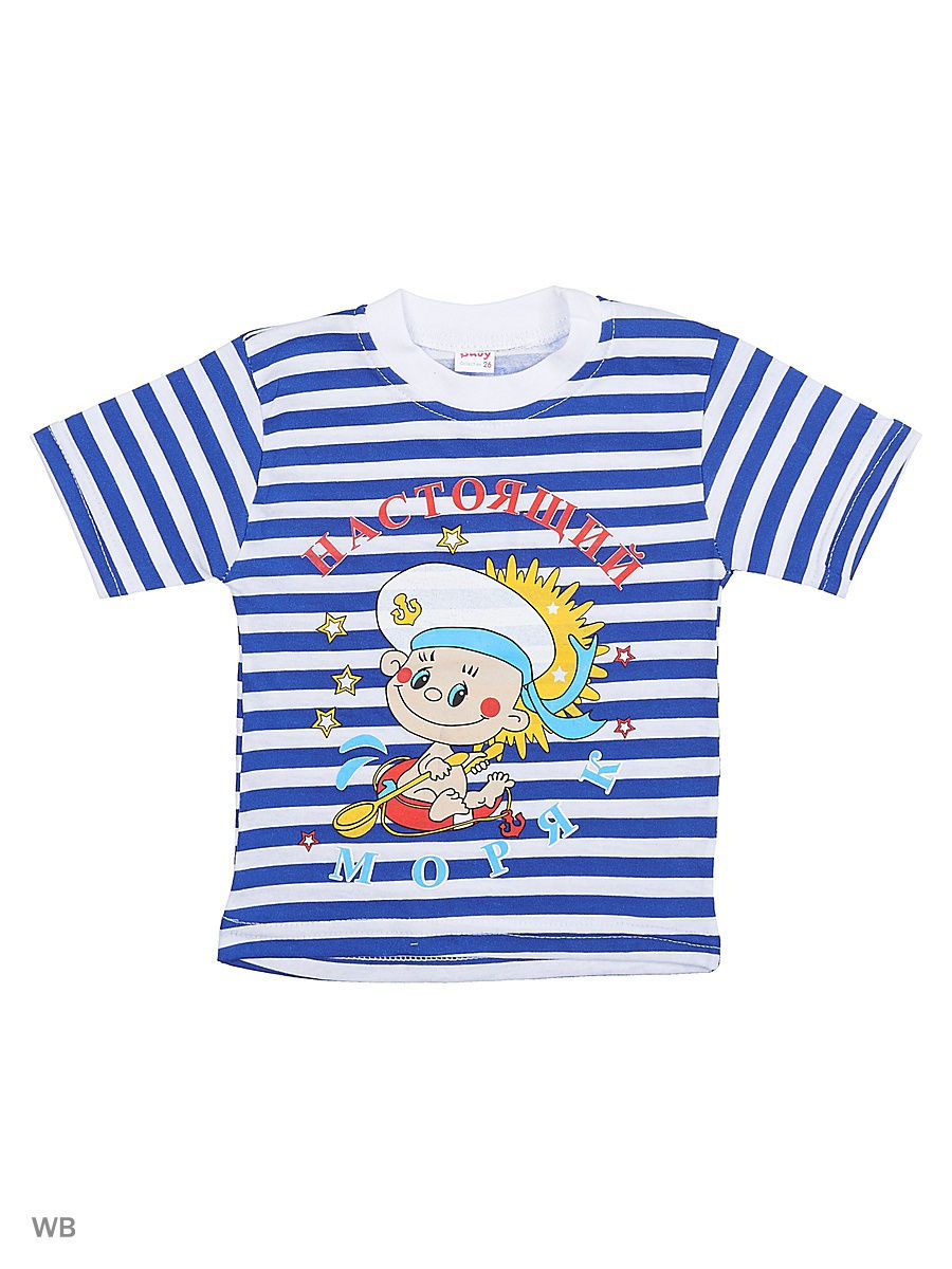 Футболка Babycollection 18Baby-608/2/белый,синий