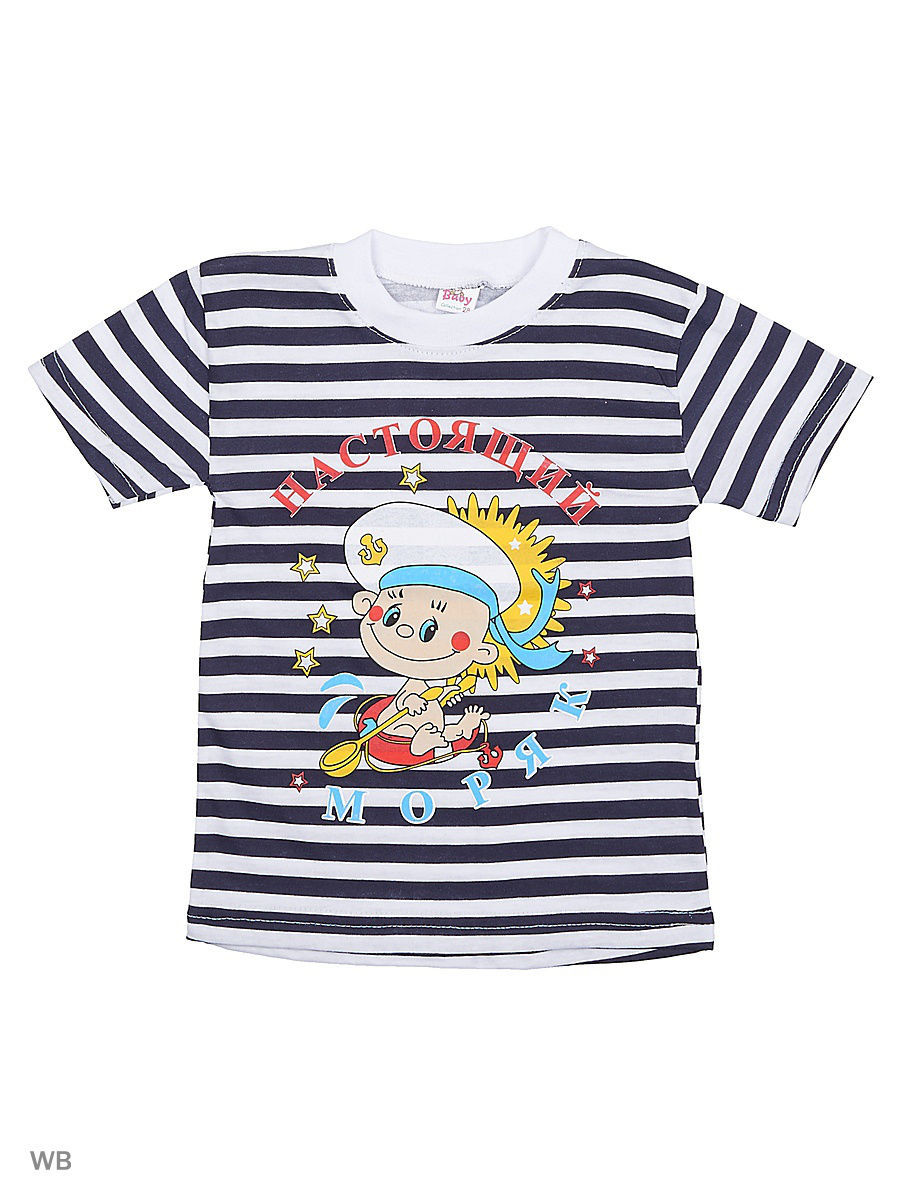 Футболка Babycollection 18Baby-608/2/белый,черный