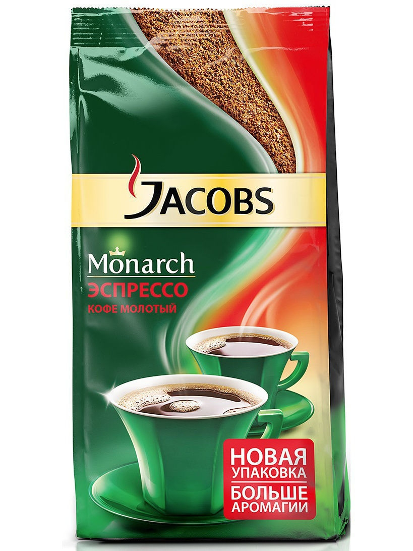 Кофе молотый Jacobs Monarch Espresso 230гр