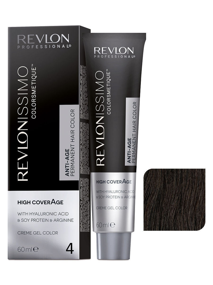 Краски для волос Revlon Professional Краска для волос RP REVLONISSIMO COLORSMETIQUE HIGH COVERAGE 4 60 мл. краски для волос revlon professional краска для волос rp revlonissimo colorsmetique cromatics c50 60 мл