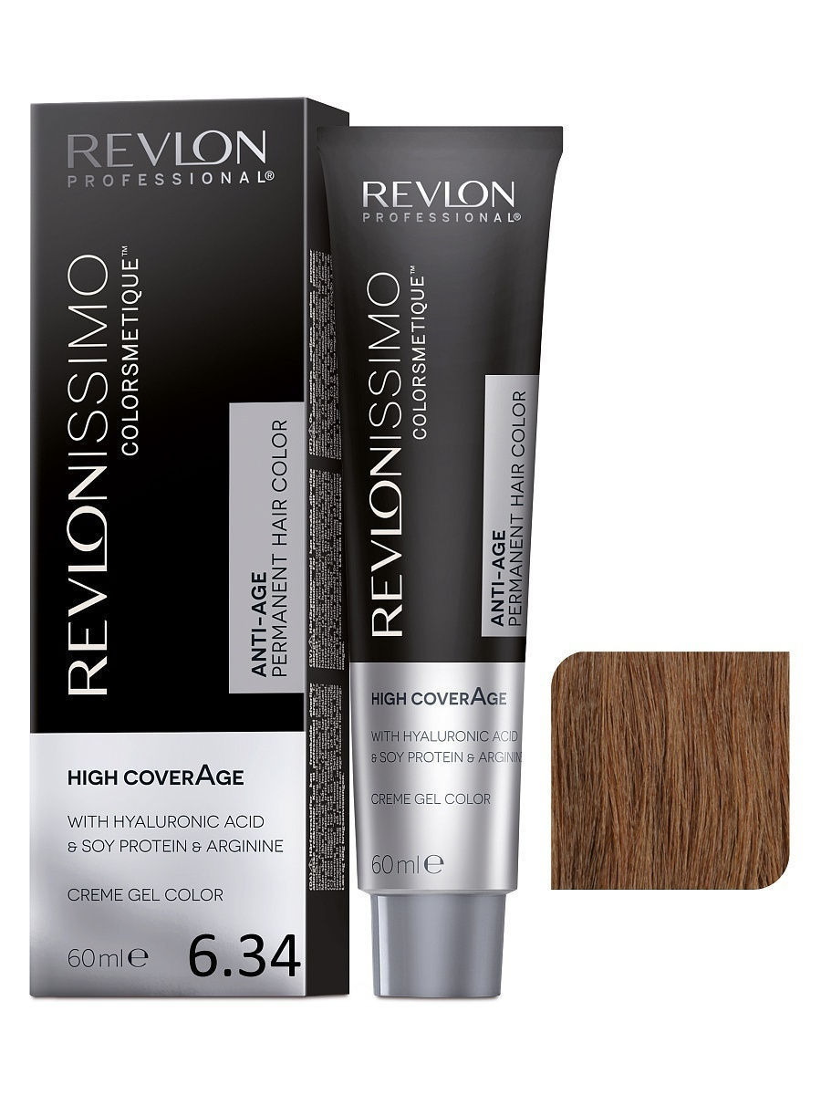 Краски для волос Revlon Professional Краска для волос RP REVLONISSIMO COLORSMETIQUE HIGH COVERAGE 6.34  60 мл. краски для волос revlon professional краска для волос rp revlonissimo colorsmetique cromatics c50 60 мл