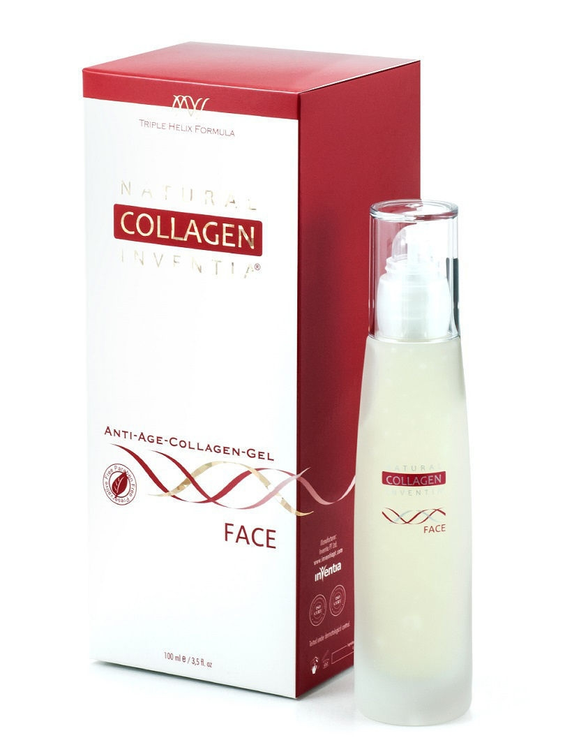 Гели Natural Collagen Inventia Гель коллагеновый для кожи лица Natural Collagen Inventia Face natural causes