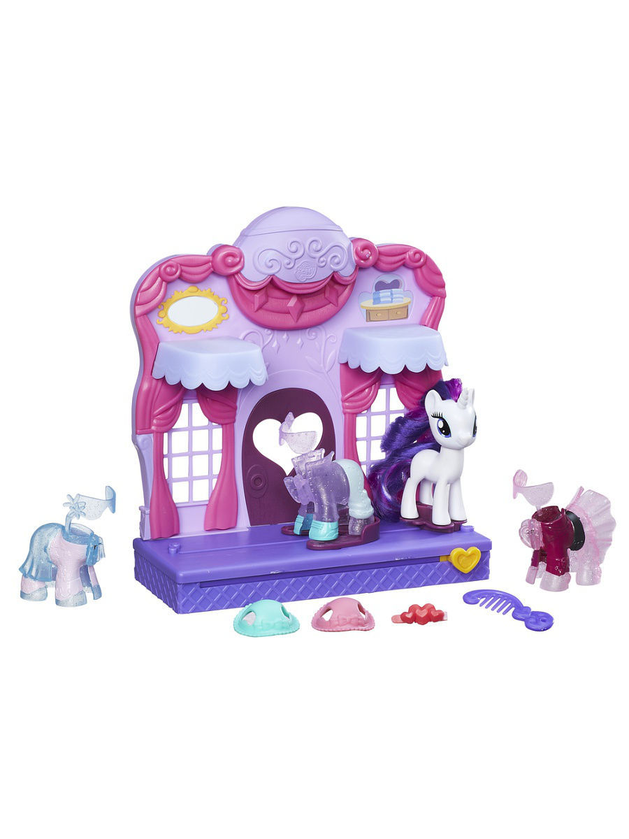 Фигурки-игрушки My Little Pony Mlp бутик рарити в кантерлоте туалетный столик рарити