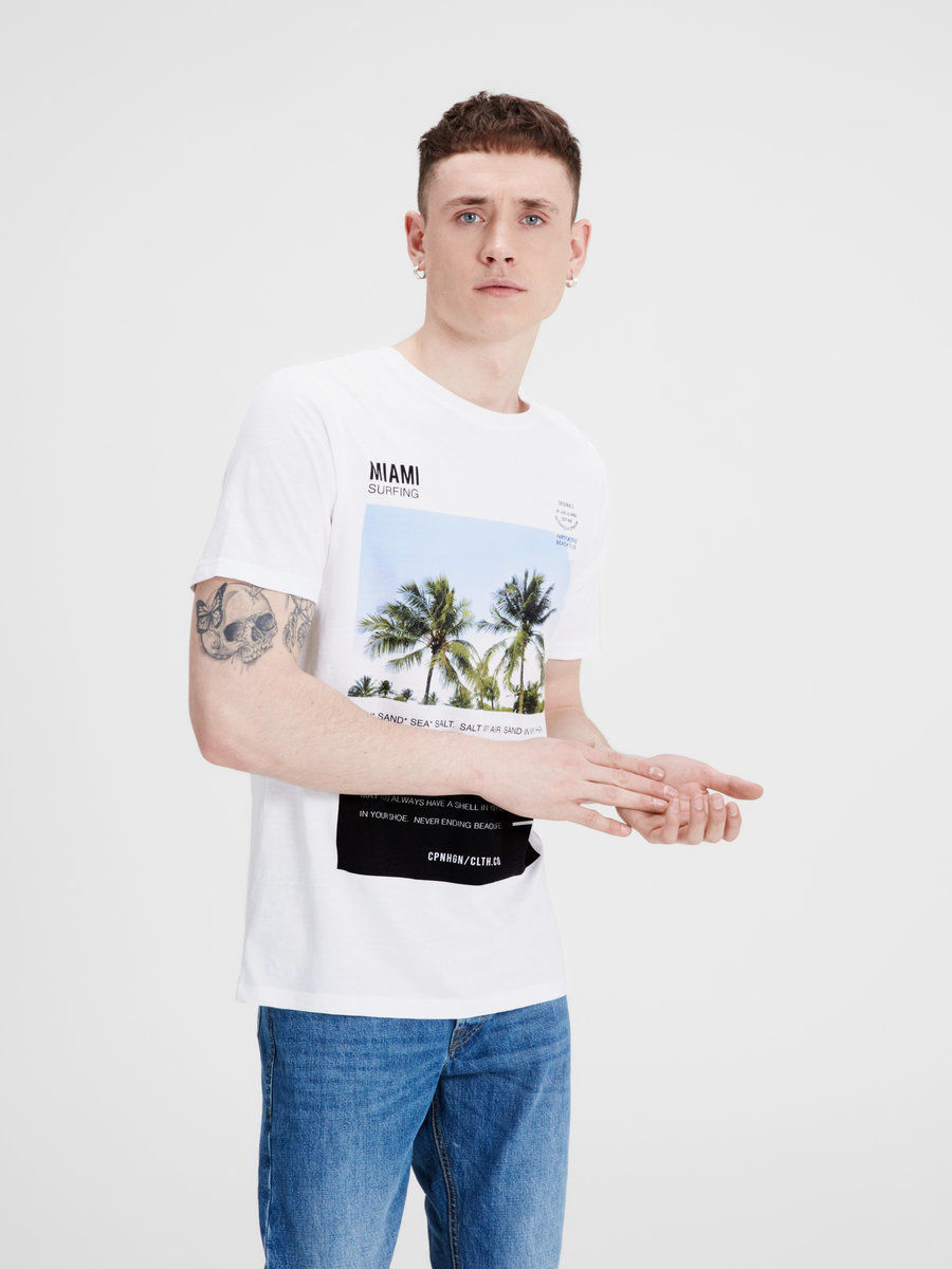 Футболка Jack & Jones 12118504/White/REG