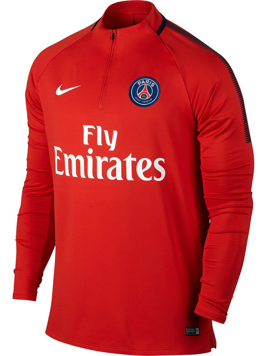 Джемперы Nike Джемпер PSG M NK DRY SQD DRIL TOP psg paris saint germain bordeaux
