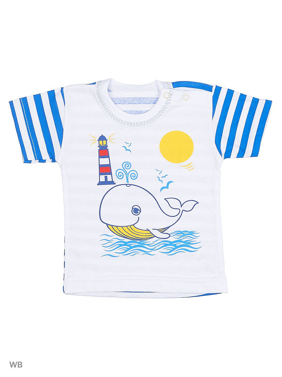 Футболка Babycollection 26C-FT025(2)-Suk(t)/белый,синий