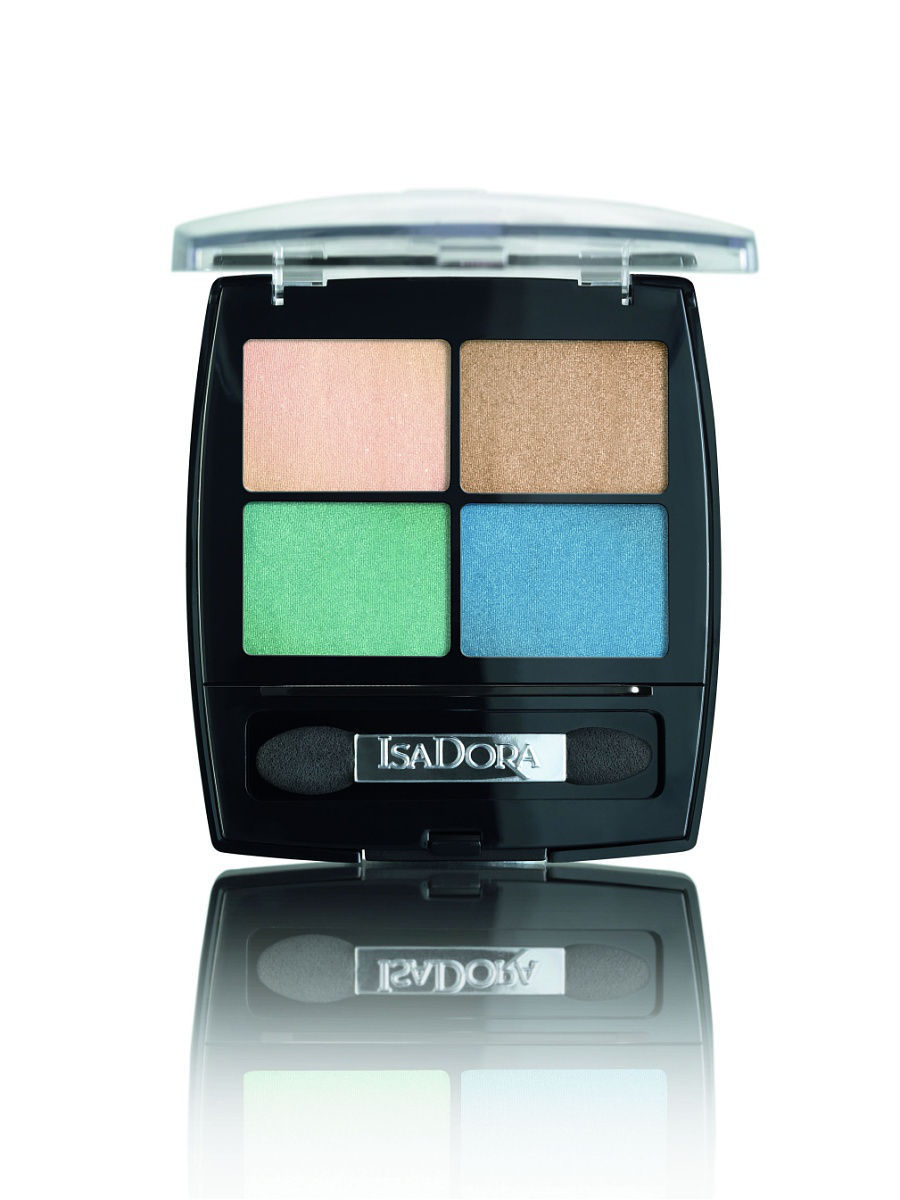 Тени ISADORA Тени для век Eye Shadow Quartet 01 5 гр isadora для век eye shadow quartet 44 5 г
