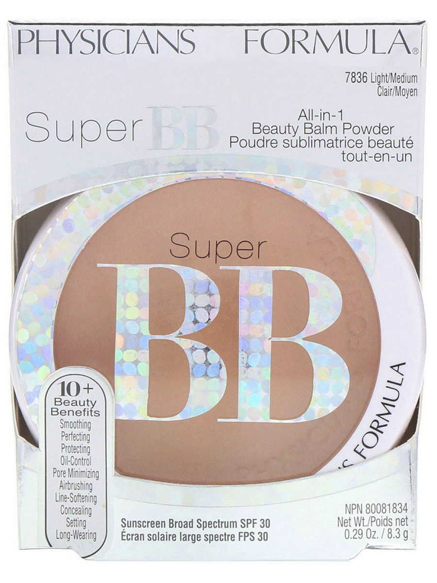 Пудры Physicians Formula Вb Пудра SPF 30 Super BB Beauty Balm Powder тон светлый/средний 8.3 г