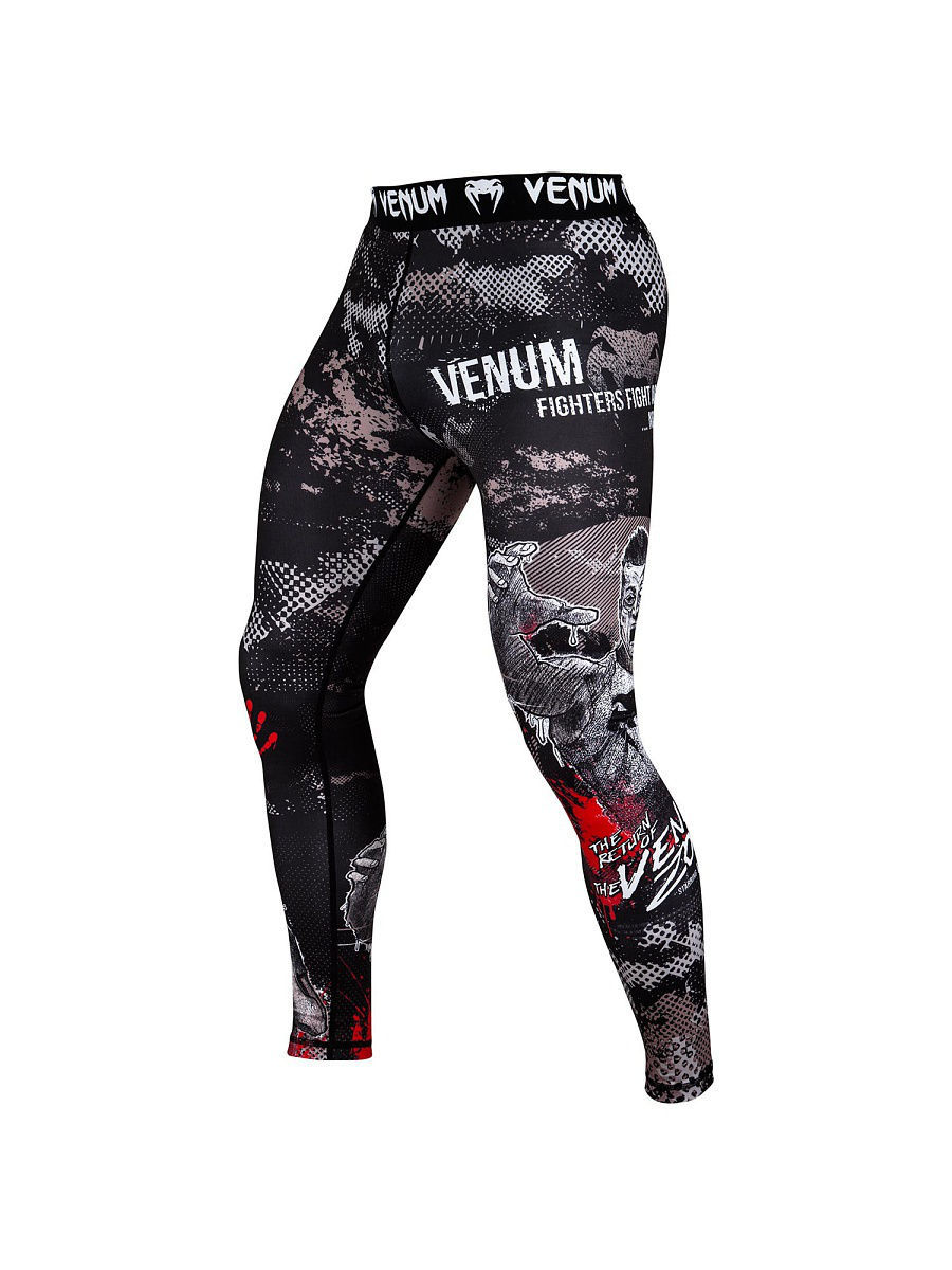 Тайтсы Venum Компрессионные тайтсы Zombie Return - Black тайтсы venum компрессионные тайтсы zombie return black