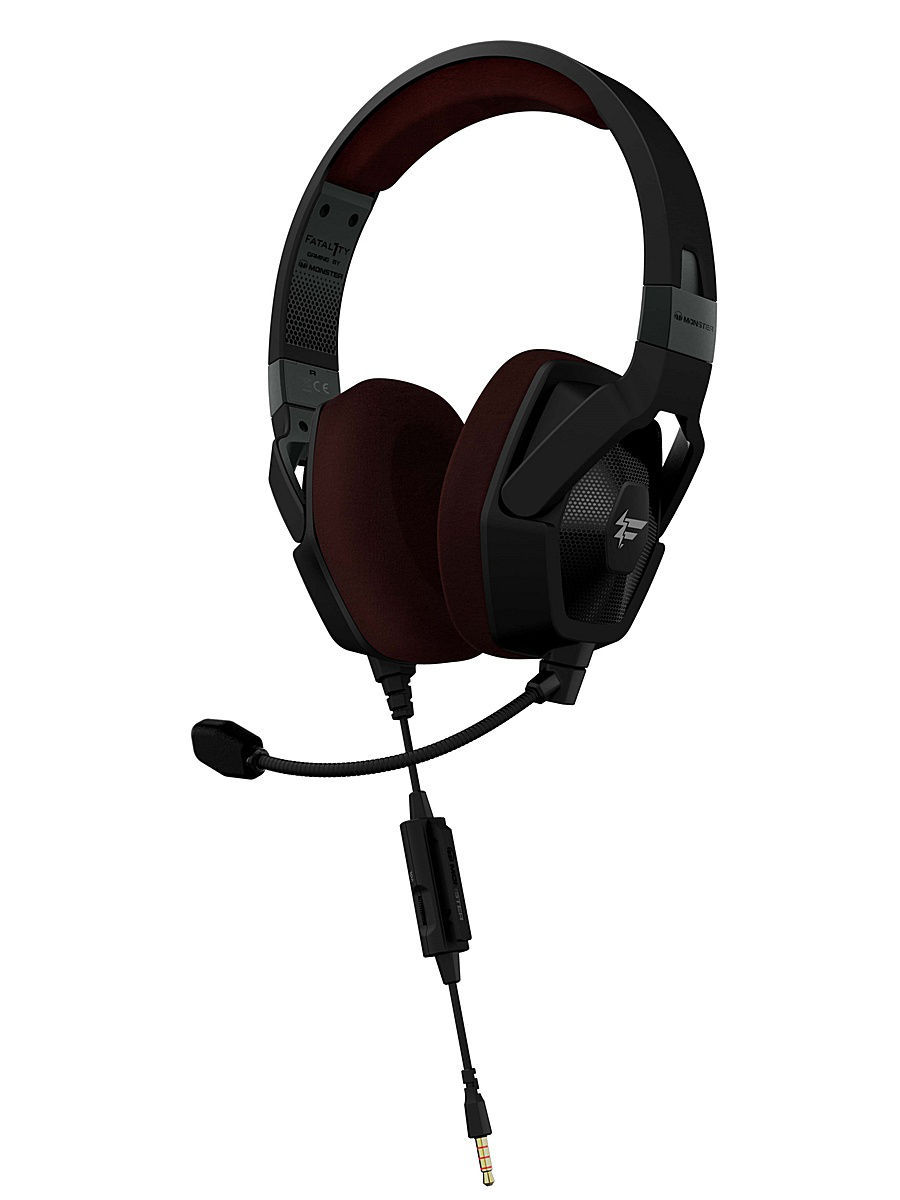 Гарнитуры Monster Гарнитура игровая Monster Fatal1ty FXM 100 High Performance Over-Ear monster high мотор побег с острова черепов 2 в 1
