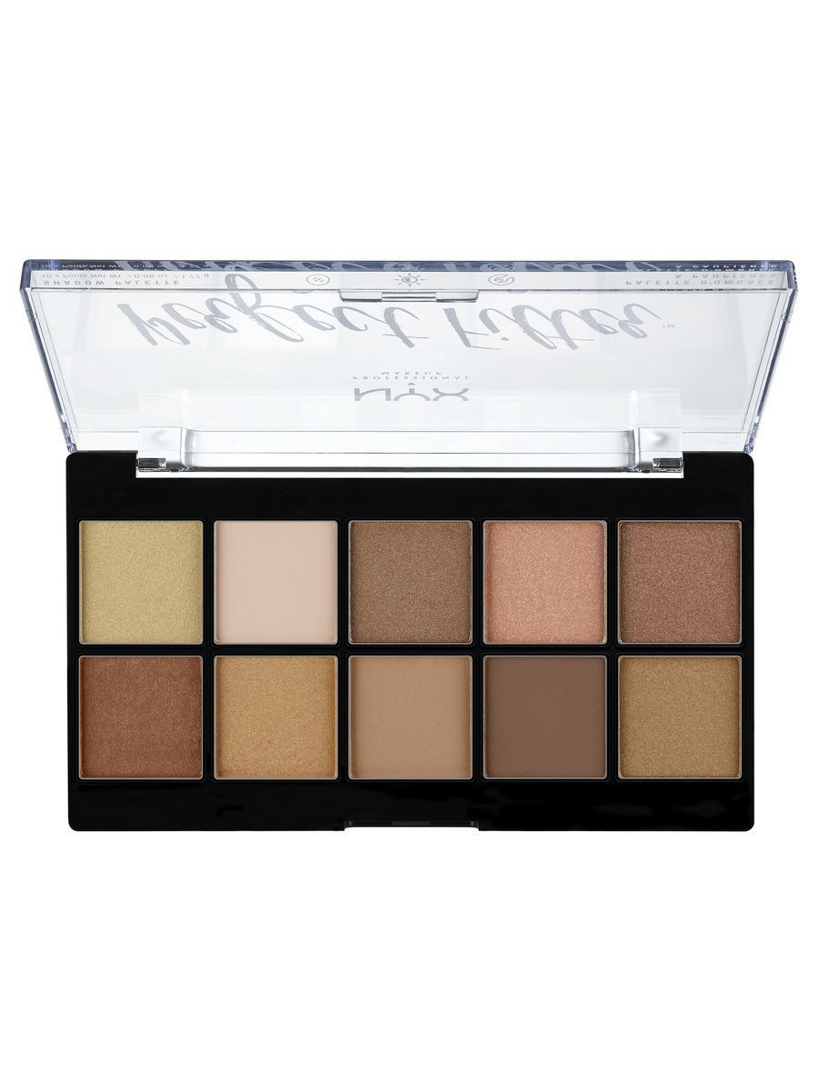Тени NYX PROFESSIONAL MAKEUP Палетка теней. PERFECT FILTER SHADOW PALETTE - GOLDEN HOUR 01 тени bourjois палетка теней palette les nudes тон 01